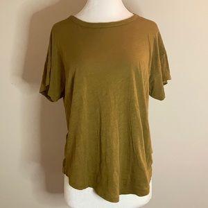 Madewell Womens Olive Green Tee Shirt